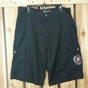 Red Ape Black Shorts NWOT